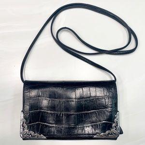 Brighton Leather Tri-Fold Crossbody Purse & Wallet